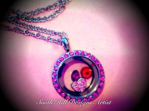 Pink Heart locket
