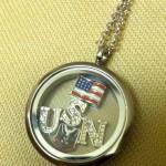Navy locket