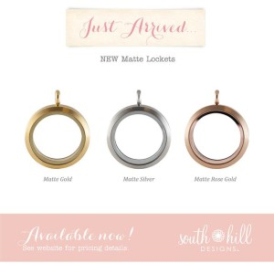 South Hill Designs Matte Lockets