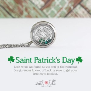 South Hill Designs St Patrick Day Locket