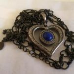 Blue Moon Stone in Heart